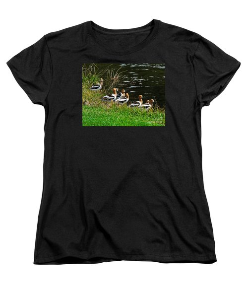 Avocets Women's T-Shirt (Standard Cut) by Sam Rosen
