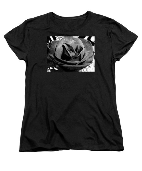 Awakened Black Rose Women's T-Shirt (Standard Cut) by Nina Ficur Feenan