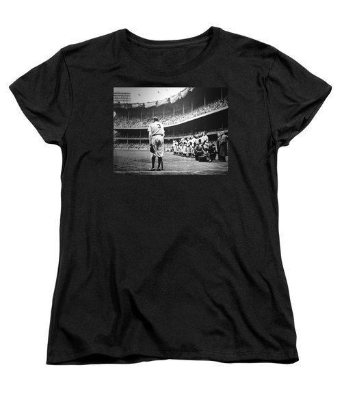 Babe Ruth Poster Women's T-Shirt (Standard Cut) by Gianfranco Weiss