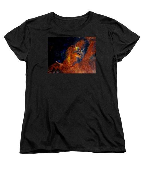 Baby Orangatan Women's T-Shirt (Standard Cut) by Maris Sherwood