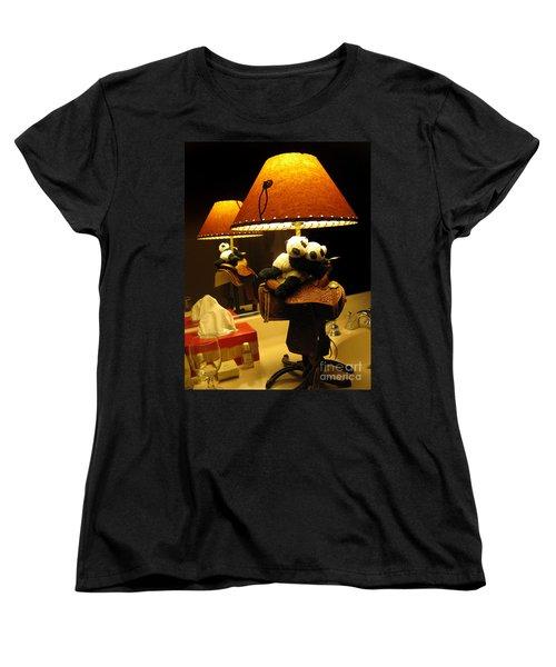 Baby Pandas In A Saddle  Women's T-Shirt (Standard Cut) by Ausra Huntington nee Paulauskaite