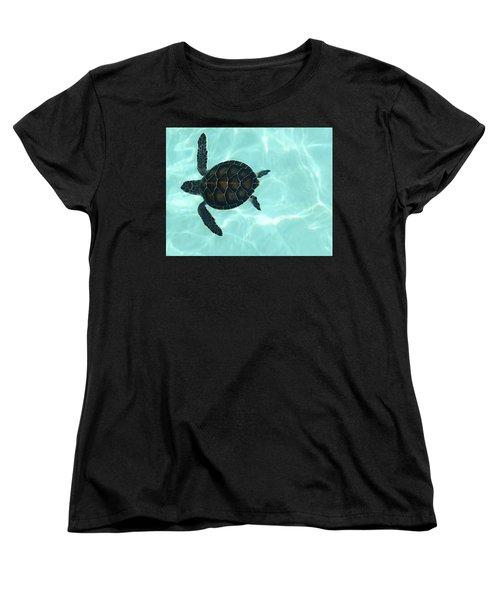 Baby Sea Turtle Women's T-Shirt (Standard Cut) by Ellen Henneke