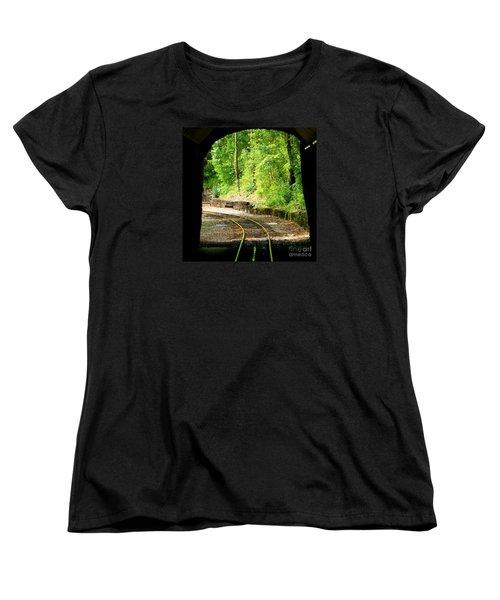 Back Tracking Women's T-Shirt (Standard Cut) by Joy Hardee