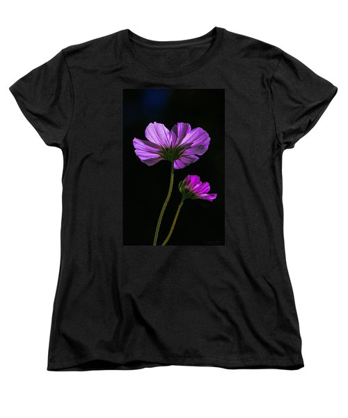 Women's T-Shirt (Standard Cut) featuring the photograph Backlit Blossoms by Marty Saccone