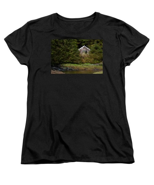 Backwoods Shack Women's T-Shirt (Standard Cut) by Melinda Ledsome