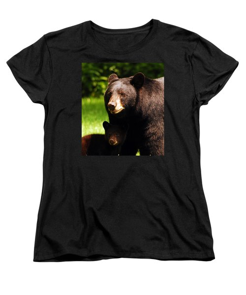 Backyard Bears Women's T-Shirt (Standard Cut) by Lori Tambakis