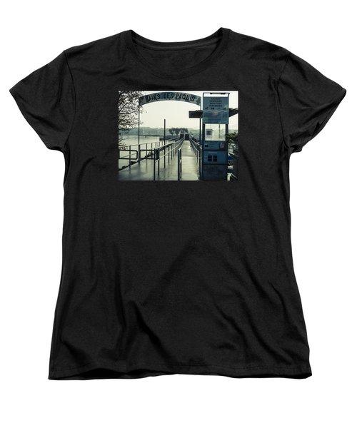 Bains Des Paquis Women's T-Shirt (Standard Cut) by Muhie Kanawati