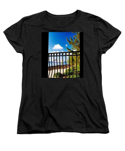 Women's T-Shirt (Standard Cut) featuring the photograph Balcony Scene by Amar Sheow