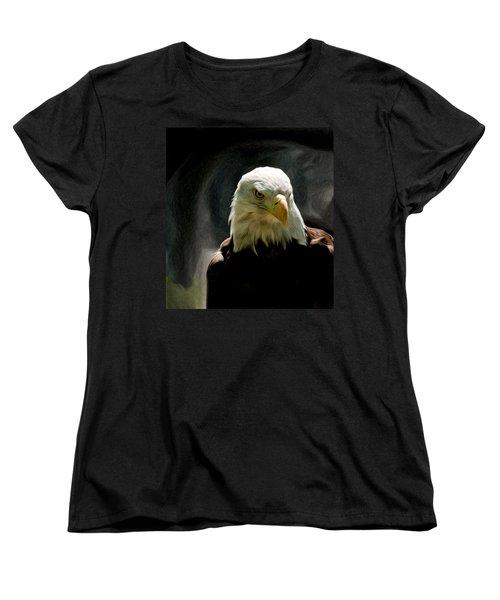 Bald Eagle Giving You That Eye Women's T-Shirt (Standard Cut)