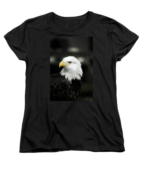 Women's T-Shirt (Standard Cut) featuring the photograph Bald Eagle by Peggy Franz