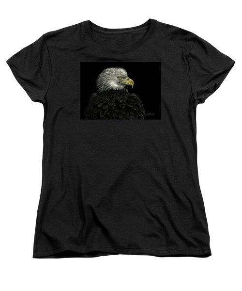 American Bald Eagle Women's T-Shirt (Standard Cut) by Sandra LaFaut