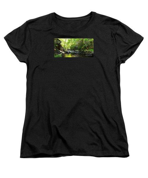 Women's T-Shirt (Standard Cut) featuring the photograph Bald River by Paul Mashburn
