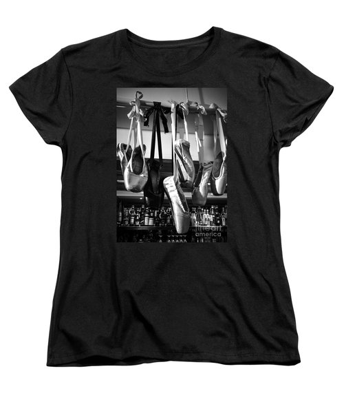 Women's T-Shirt (Standard Cut) featuring the photograph Ballet At The Bar by Peta Thames