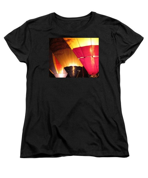 Balloons At Night Women's T-Shirt (Standard Cut) by Laurel Powell