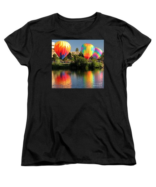 Women's T-Shirt (Standard Cut) featuring the photograph Balloons Over Bend Oregon by Kevin Desrosiers