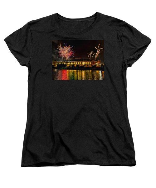 Ballpark Fireworks Women's T-Shirt (Standard Cut)