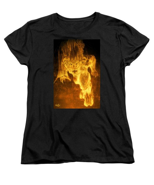 Women's T-Shirt (Standard Cut) featuring the mixed media Balrog Of Morgoth by Curtiss Shaffer