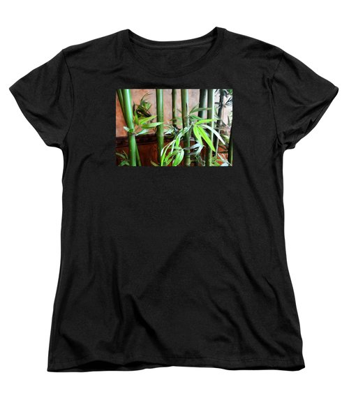 Women's T-Shirt (Standard Cut) featuring the photograph Plant -  Bamboo  -  Luther Fine Art by Luther Fine Art