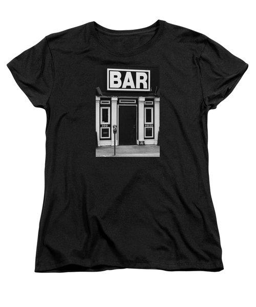 Women's T-Shirt (Standard Cut) featuring the photograph Bar by Rodney Lee Williams