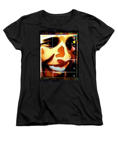 Women's T-Shirt (Standard Cut) featuring the digital art Barack Obama by Daniel Janda