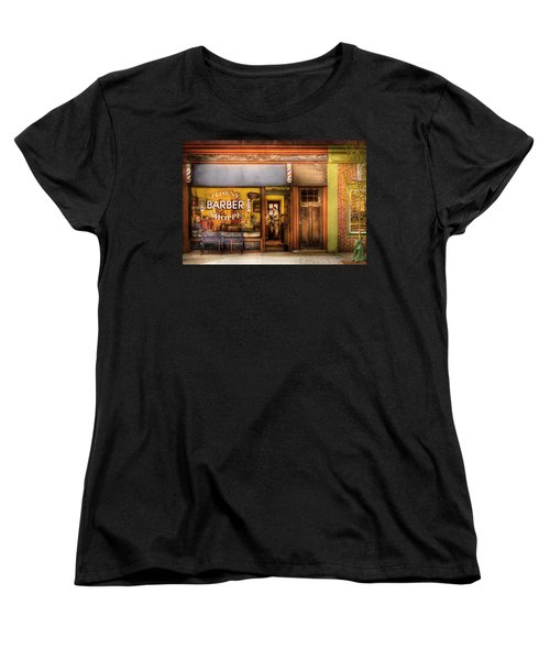 Barber - Towne Barber Shop Women's T-Shirt (Standard Cut) by Mike Savad