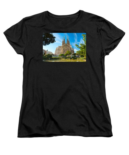Barcelona - La Sagrada Familia Women's T-Shirt (Standard Cut) by Luciano Mortula