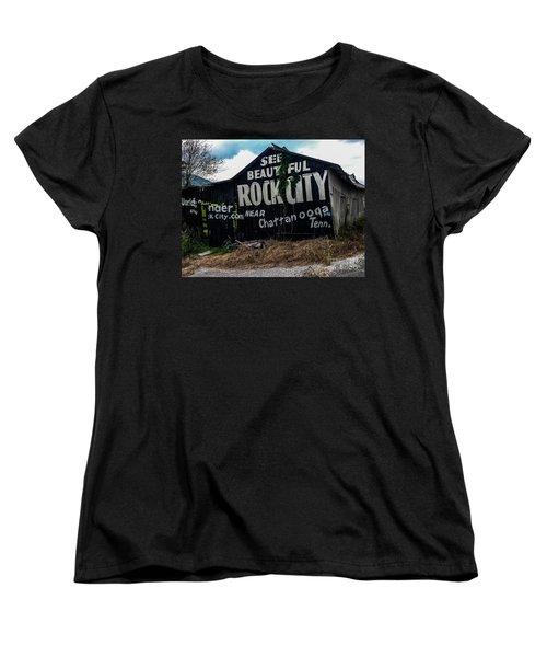 Barn Billboard Women's T-Shirt (Standard Cut) by Janice Spivey