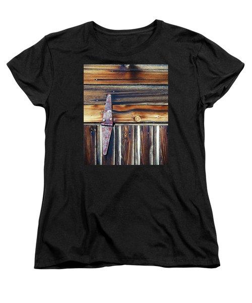 Barn Door Women's T-Shirt (Standard Cut) by Wayne Sherriff