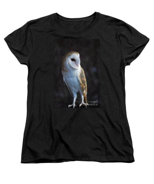Women's T-Shirt (Standard Cut) featuring the photograph Barn Owl by Sharon Elliott