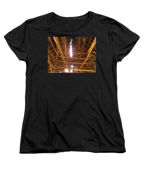 Women's T-Shirt (Standard Cut) featuring the photograph Barn With A Skylight by Nick Kirby
