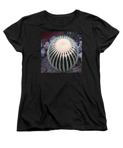 Women's T-Shirt (Standard Cut) featuring the photograph Barrel Cactus by Luther Fine Art
