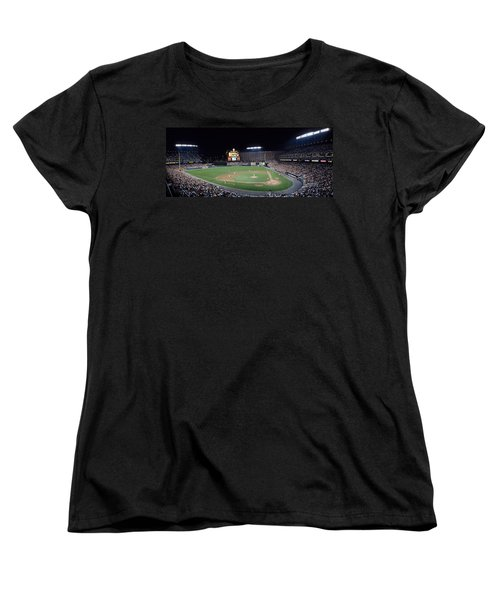 Baseball Game Camden Yards Baltimore Md Women's T-Shirt (Standard Cut) by Panoramic Images