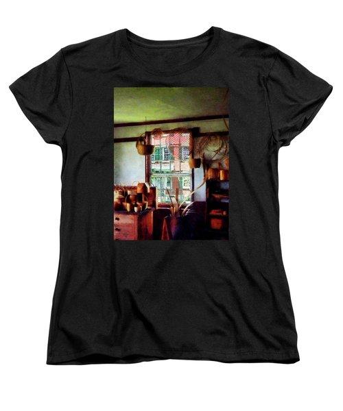 Women's T-Shirt (Standard Cut) featuring the photograph Basket Shop by Susan Savad