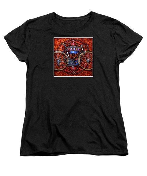Bates Bicycle Women's T-Shirt (Standard Cut) by Mark Jones