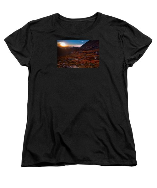 Bathing In Last Light Women's T-Shirt (Standard Cut) by Jim Garrison