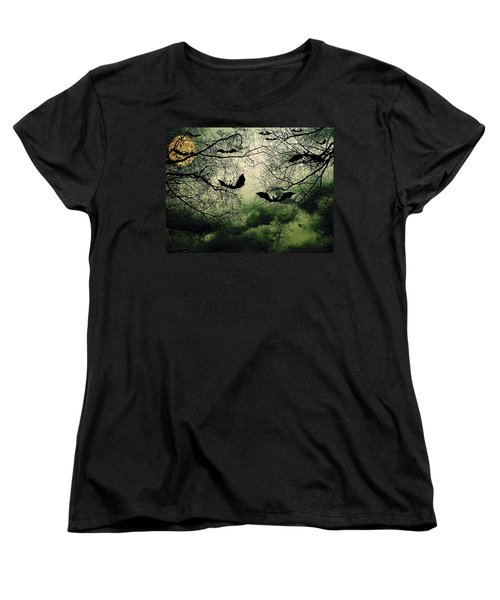 Bats From Hell Women's T-Shirt (Standard Cut) by Barbara S Nickerson