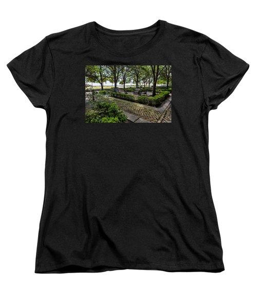 Women's T-Shirt (Standard Cut) featuring the photograph Battery Park by Sennie Pierson