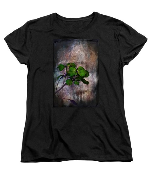 Women's T-Shirt (Standard Cut) featuring the mixed media Be Green by Aaron Berg