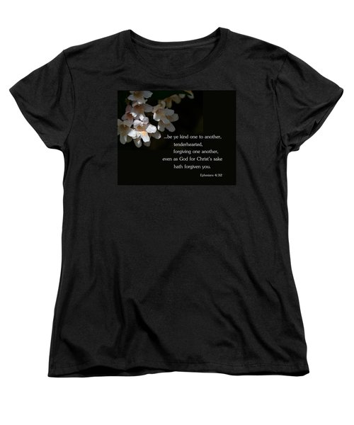 Women's T-Shirt (Standard Cut) featuring the photograph Be Ye Kind by Larry Bishop