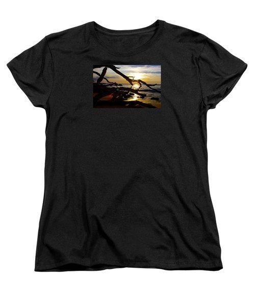 Beach 69 Hawaii At Sunset Women's T-Shirt (Standard Cut) by Venetia Featherstone-Witty