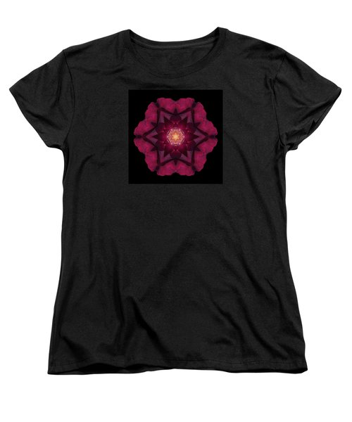 Beach Rose I Flower Mandala Women's T-Shirt (Standard Cut) by David J Bookbinder