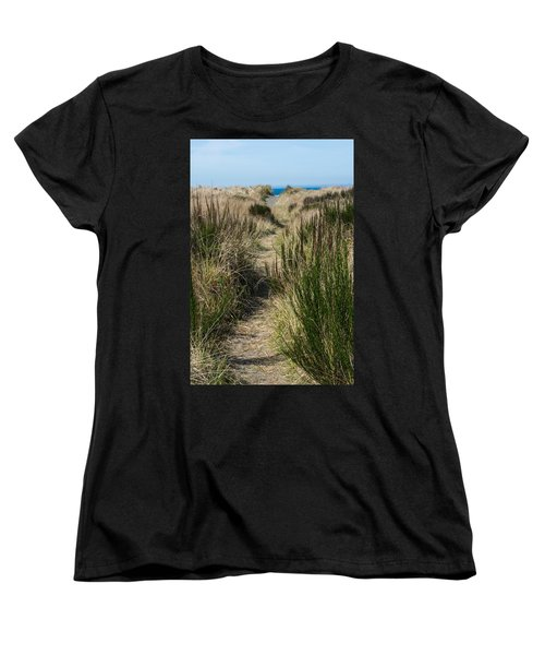 Beach Trail Women's T-Shirt (Standard Cut) by Tikvah's Hope