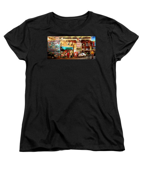 Women's T-Shirt (Standard Cut) featuring the photograph Beale Street by Barbara Chichester