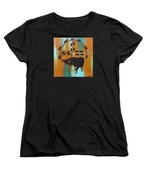 Bear Totem And Medicine Wheel Women's T-Shirt (Standard Cut)