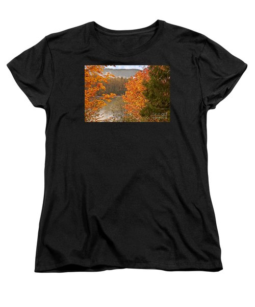 Women's T-Shirt (Standard Cut) featuring the photograph Beautiful Autumn Gold Art Prints by Valerie Garner