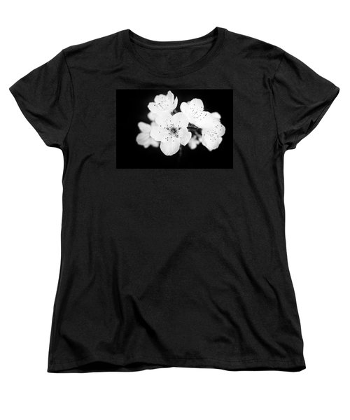 Beautiful Blossoms In Black And White Women's T-Shirt (Standard Cut)