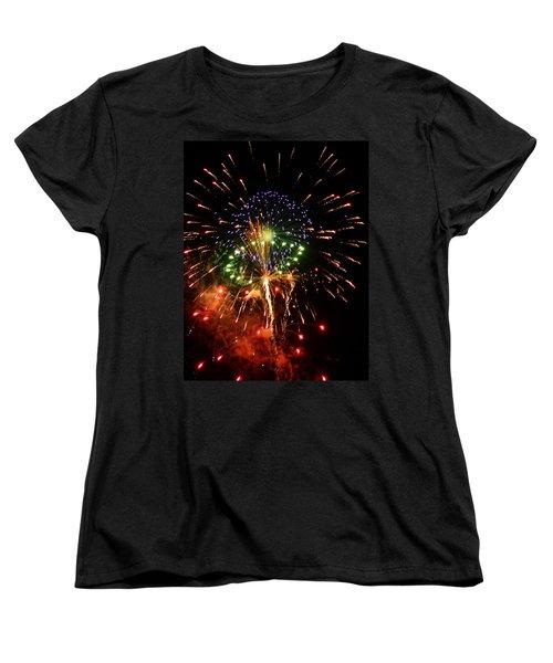 Beautiful Fireworks Works Women's T-Shirt (Standard Cut) by Kim Pate