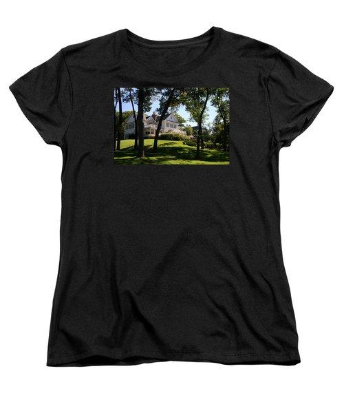 Beautiful Hillside Home Women's T-Shirt (Standard Cut) by Kay Novy