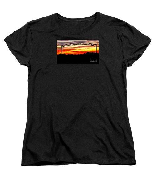 Beautiful Sunset And Emmett Sport Comples Women's T-Shirt (Standard Cut) by Robert Bales
