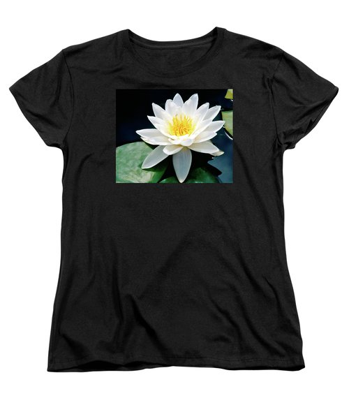 Beautiful Water Lily Capture Women's T-Shirt (Standard Cut) by Ed  Riche